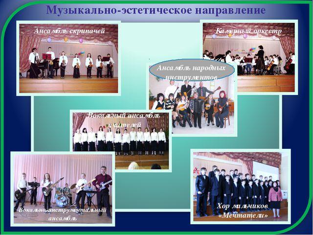 Музыкально-эстетическое направление Ансамбль скрипачей Камерный оркестр Анса...