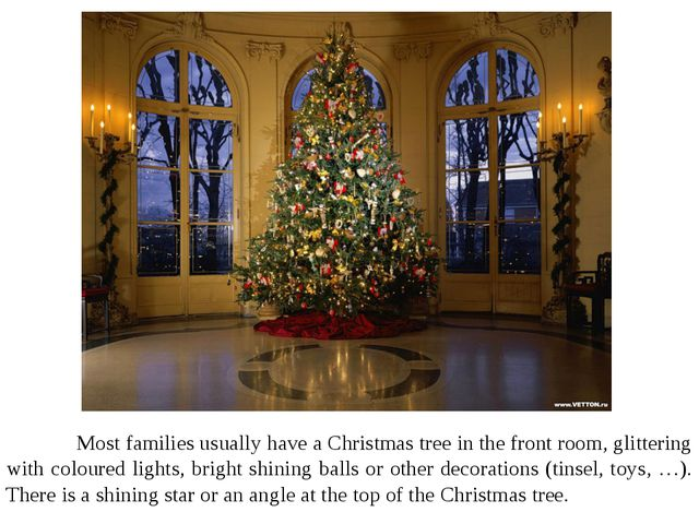 Most families usually have a Christmas tree in the front room, glittering wi...