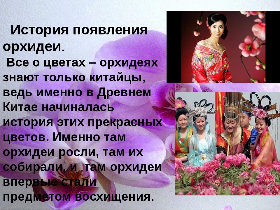 История появления орхидеи. Все о цветах – орхидеях знают только китайцы, вед...