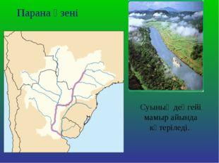 Парана өзені Суының деңгейі мамыр айында көтеріледі.