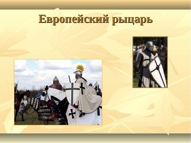 Европейский рыцарь