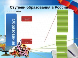 Ступени образования в России