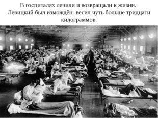 В госпиталях лечили и возвращали к жизни. Левицкий был измождён: весил чуть б