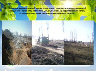 Соколовский кирпичный завод продолжает наносить вред окружающей среде. По –пр