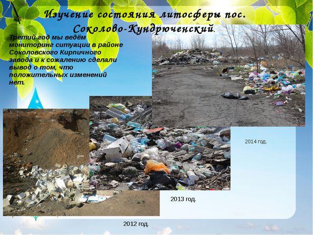 Третий год мы ведём мониторинг ситуации в районе Соколовского Кирпичного заво...