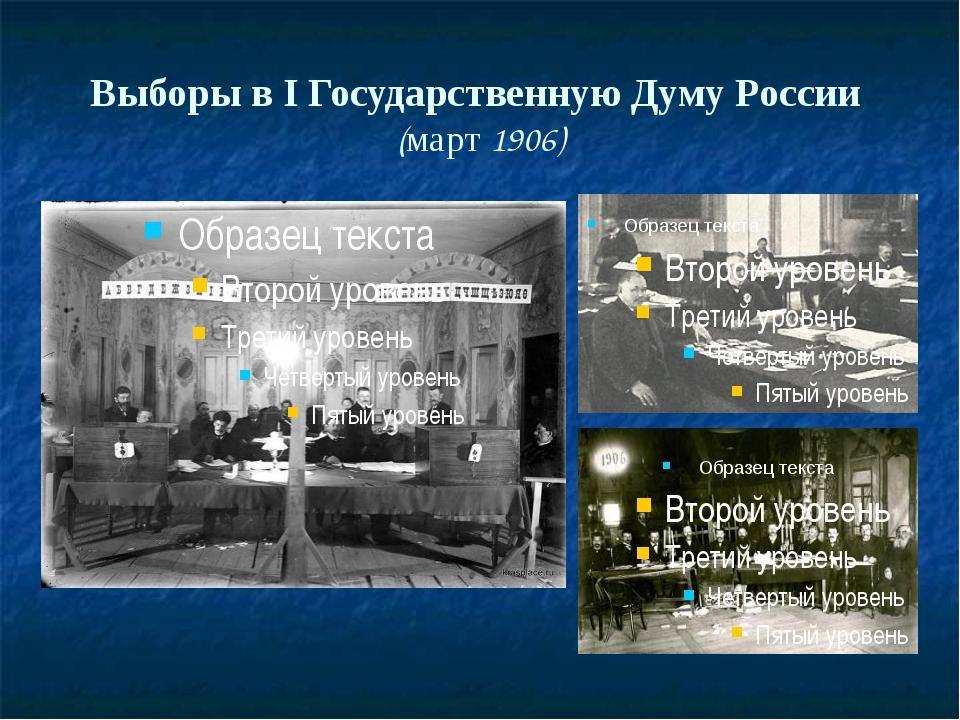 Выборы в I Государственную Думу России (март 1906)