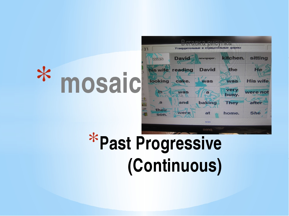 mosaic Past Progressive (Continuous) The computer program is called Bridge t...