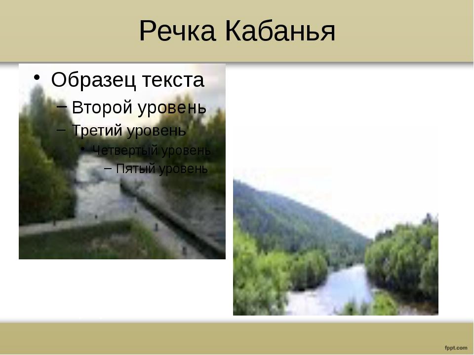 Речка Кабанья