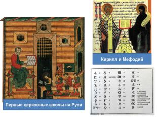 Кирилл и Мефодий Первые церковные школы на Руси