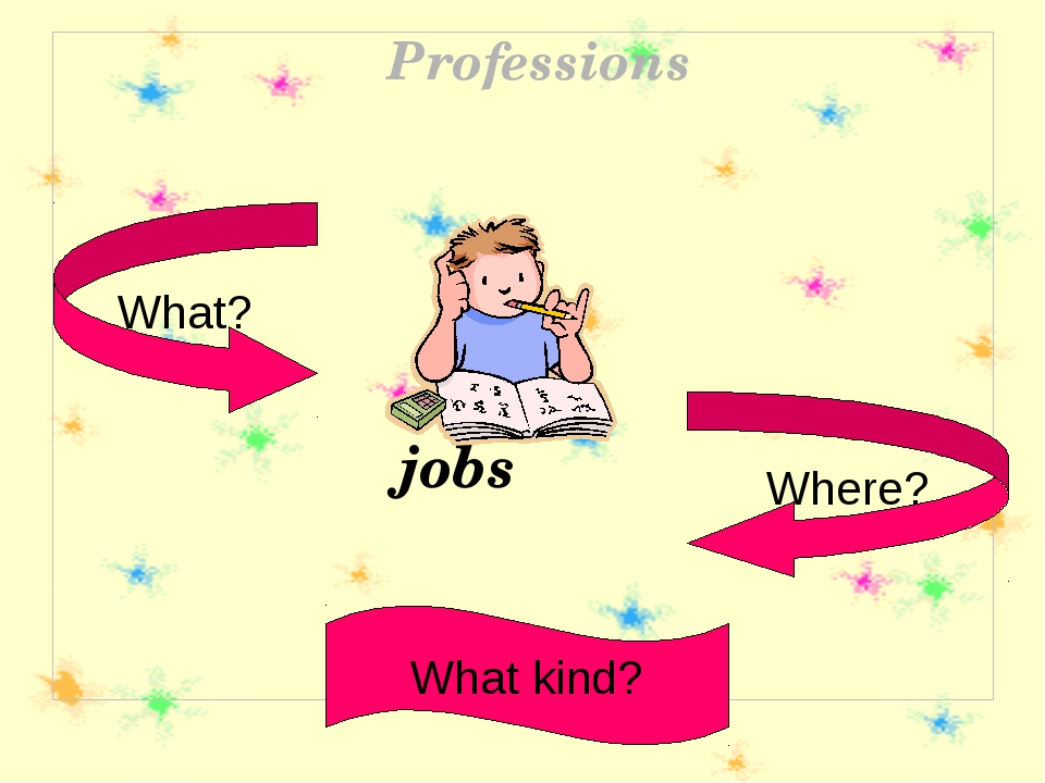 What? What kind? Where? Professions jobs