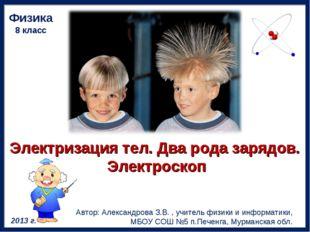 Электризация тел.Двародазарядов. Электроскоп Физика 8 класс Автор: Алексан