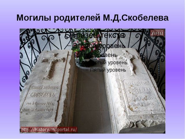 Могилы родителей М.Д.Скобелева