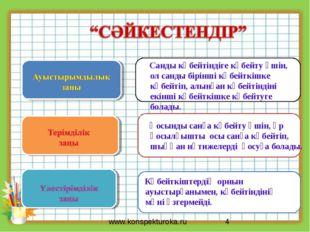 * www.konspekturoka.ru Көбейткіштердің орнын ауыстырғанымен, көбейтіндінің мә