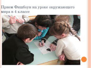 Прием Фишбоун на уроке окружающего мира в 4 классе