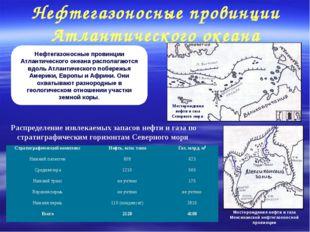 Нефтегазоносные провинции Атлантического океана Нефтегазоносные провинции Атл