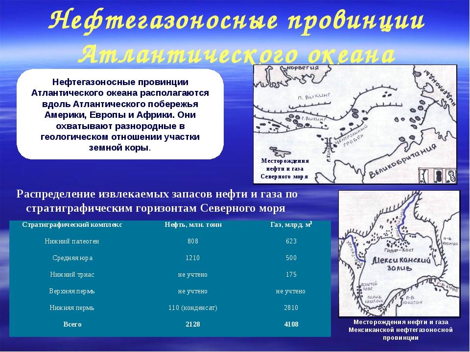 Нефтегазоносные провинции Атлантического океана Нефтегазоносные провинции Атл...