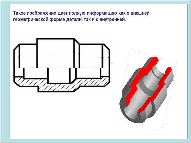 Такое изображение даёт полную информацию как о внешней геометрической форме д...