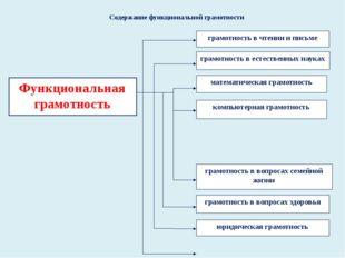 Содержание функциональной грамотности Функциональная грамотность грамотность