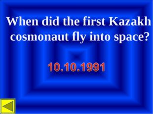When did the first Kazakh cosmonaut fly into space?