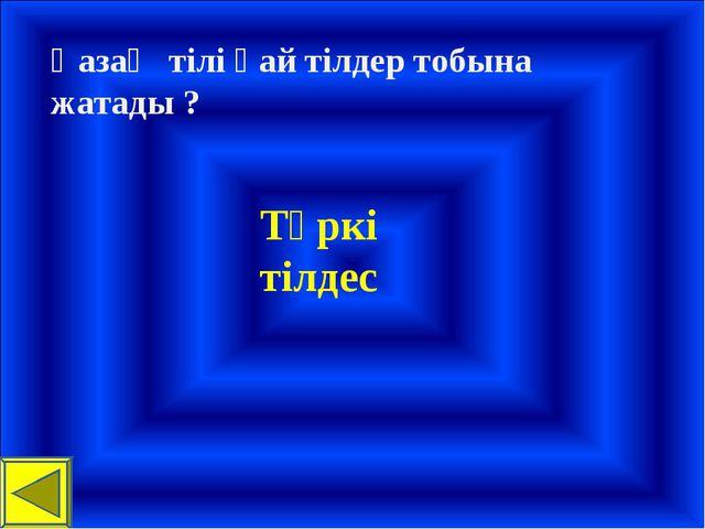 Қазақ тілі қай тілдер тобына жатады ? Түркі тілдес