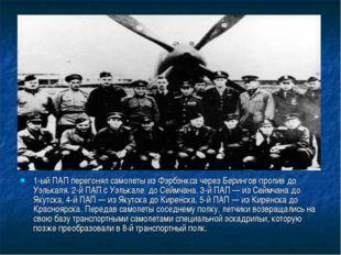 1-ый ПАП перегонял самолеты из Фэрбэнкса через Берингов пролив до Уэлькаля. 2