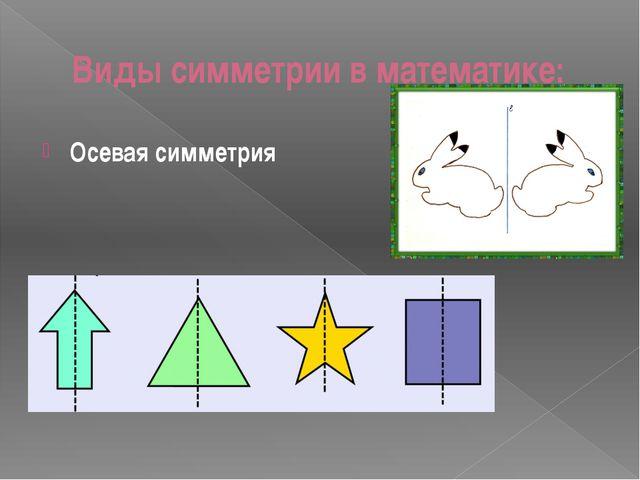 Виды симметрии в математике: Осевая симметрия