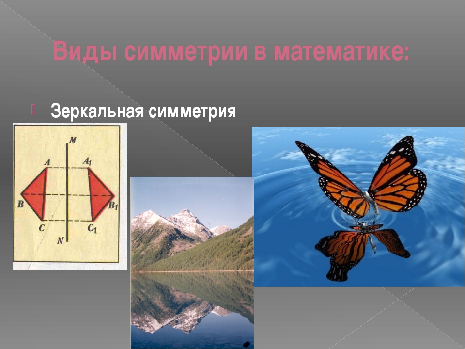 Виды симметрии в математике: Зеркальная симметрия