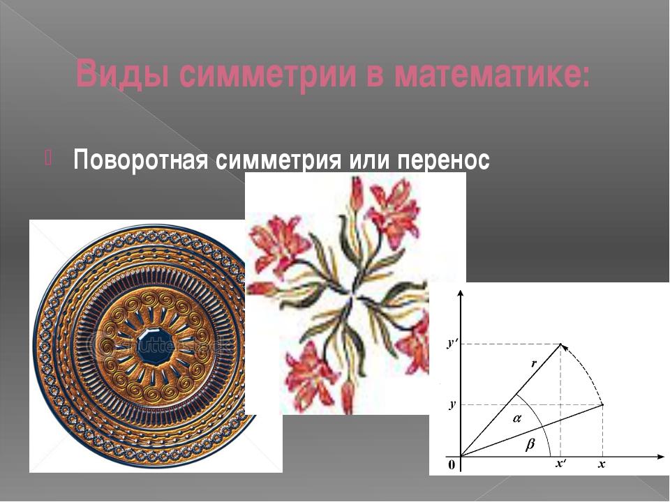 Виды симметрии в математике: Поворотная симметрия или перенос