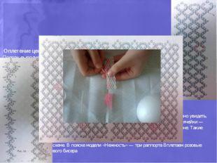 Основная техника — сетчатое плетение. Оплетение центральной части: Поясок вы