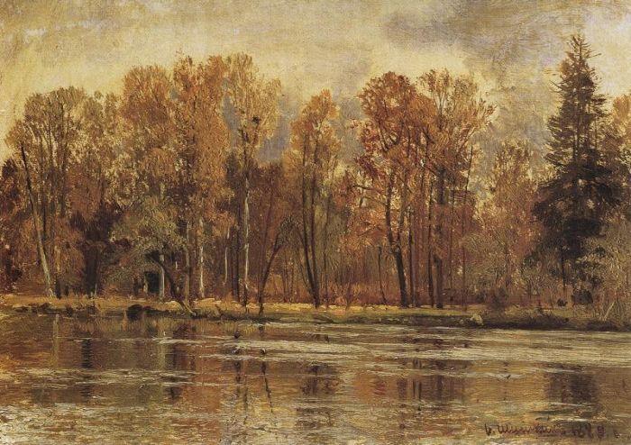 Золотая осень 1888 77,6х23,5 - Шишкин Иван Иванович