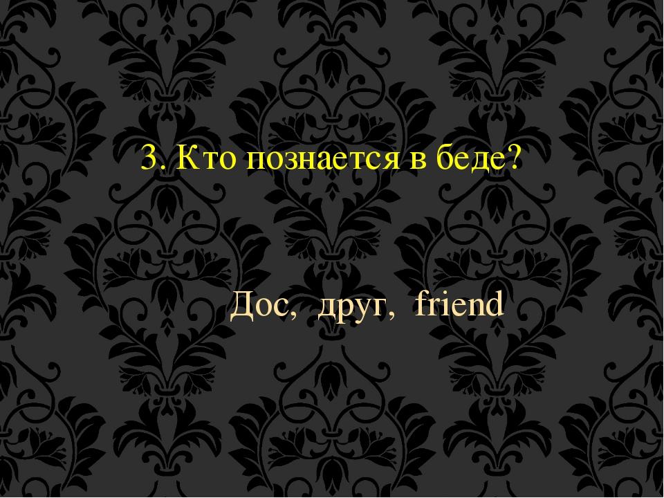 3. Кто познается в беде? Дос, друг, friend