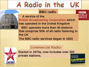 BBC radio Commercial Radio: A service of the British Broadcasting Corporation