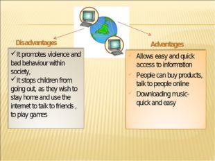 Disadvantages Advantages