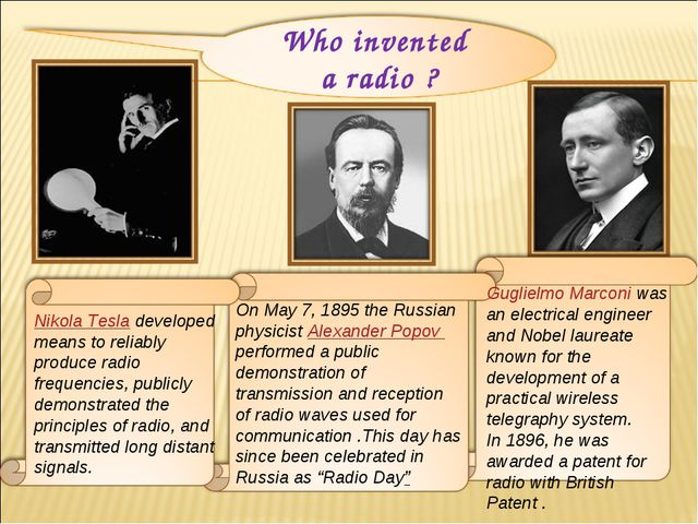 Nikola Tesla developed means to reliably produce radio frequencies, publicly...