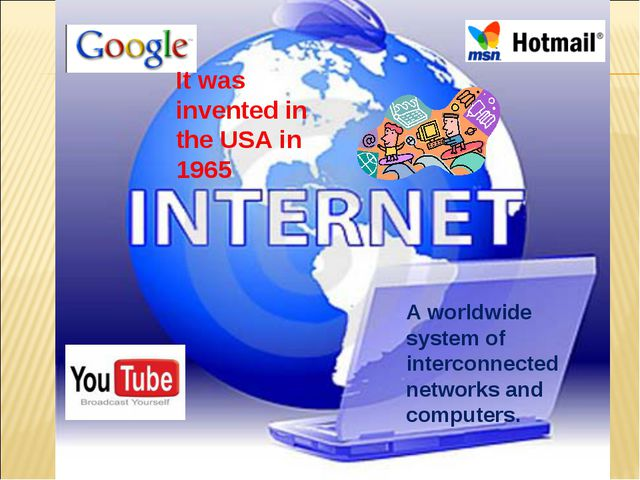 A worldwide system of interconnected networks and computers. It was invented...