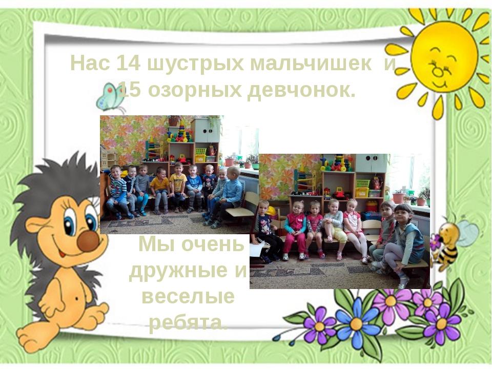 Нас 14 шустрых мальчишек и 15 озорных девчонок. Мы очень дружные и веселые р...
