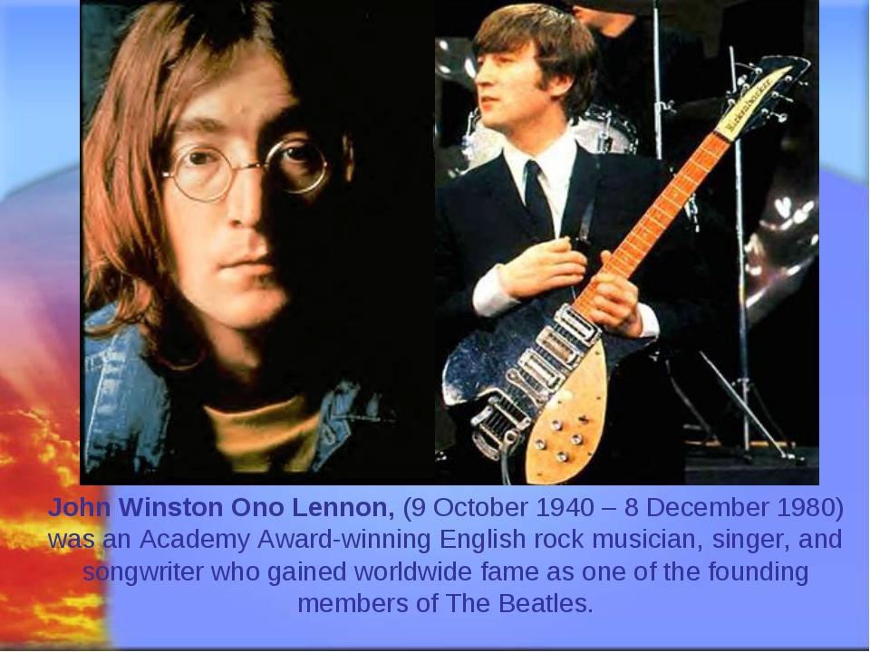 Svetlana Kibriteva - VIII John Winston Ono Lennon, (9 October 1940 – 8 Decemb...