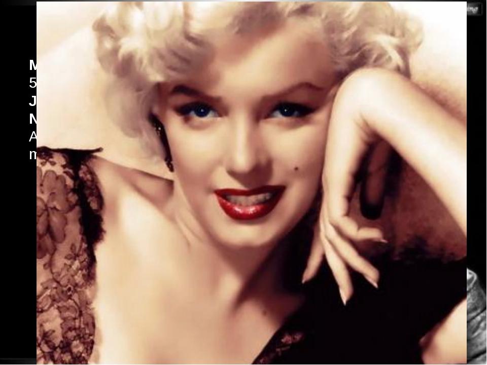 Svetlana Kibriteva - VIII Marilyn Monroe, (1 June 1926 – 5 August 1962), born...