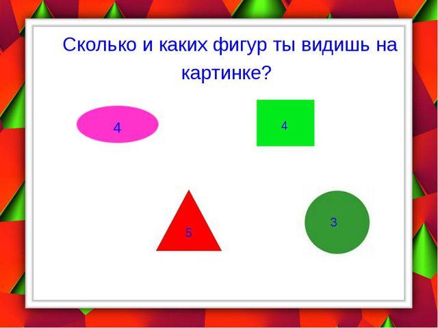 Сколько и каких фигур ты видишь на картинке? 4 4 5 3