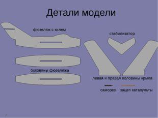 фюзеляж с килем боковины фюзеляжа стабилизатор левая и правая половины крыла