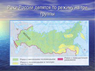 Реки России делятся по режиму на три группы