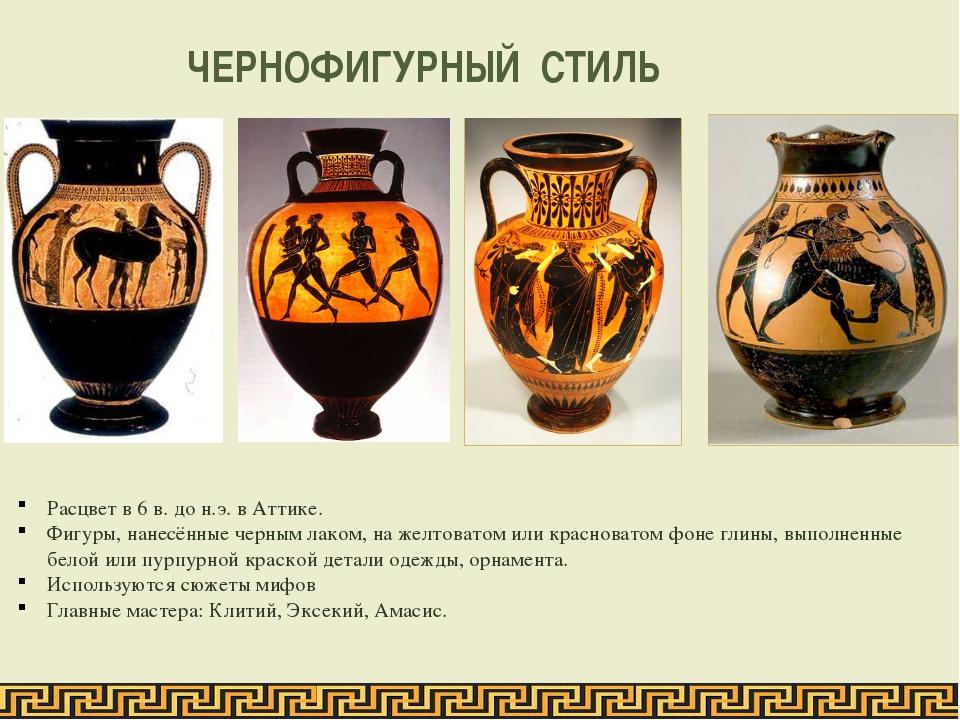 Сюжеты древнегреческих ваз горгона