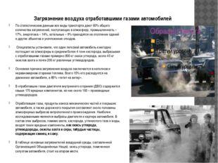 Загрязнение воздуха отработавшими газами автомобилей По статистическим данным
