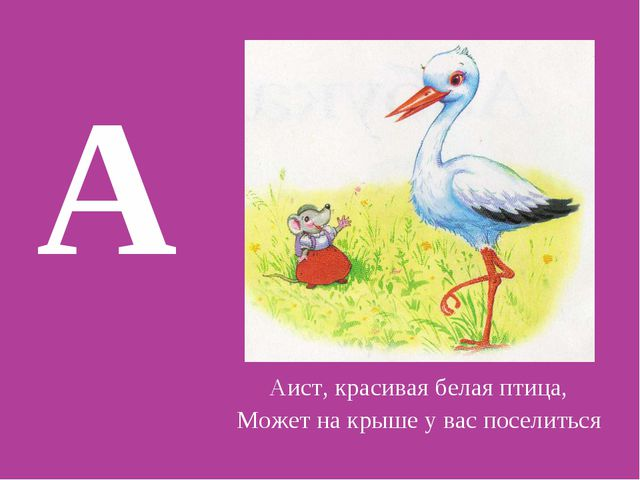 Аист, красивая белая птица, Может на крыше у вас поселиться А