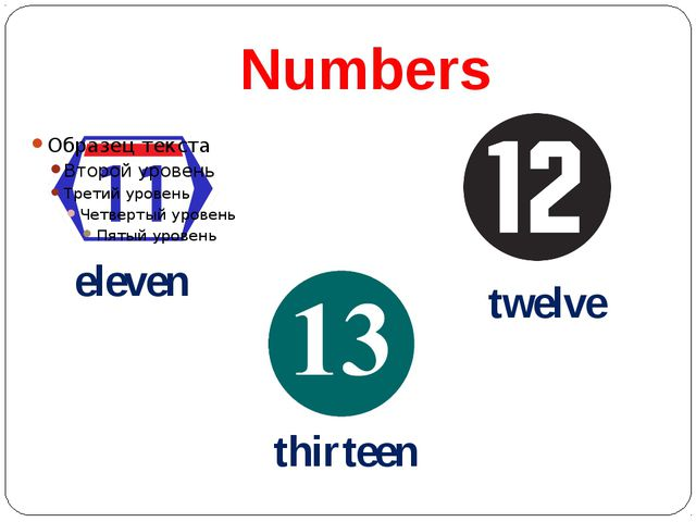 Numbers eleven twelve thirteen