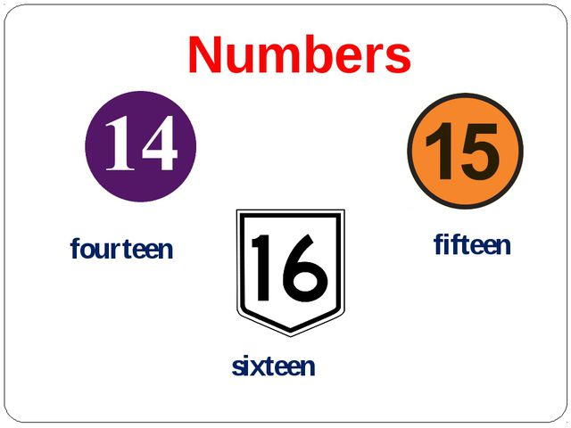 Numbers fourteen fifteen sixteen