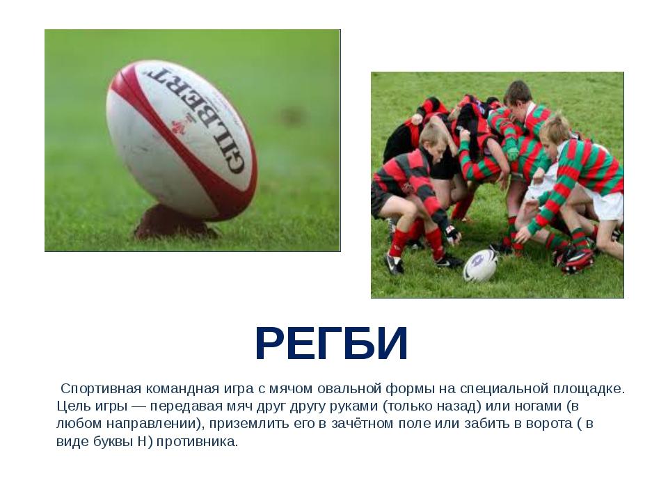 РЕГБИ Спортивная командная игра с мячом овальной формы на специальной площад...