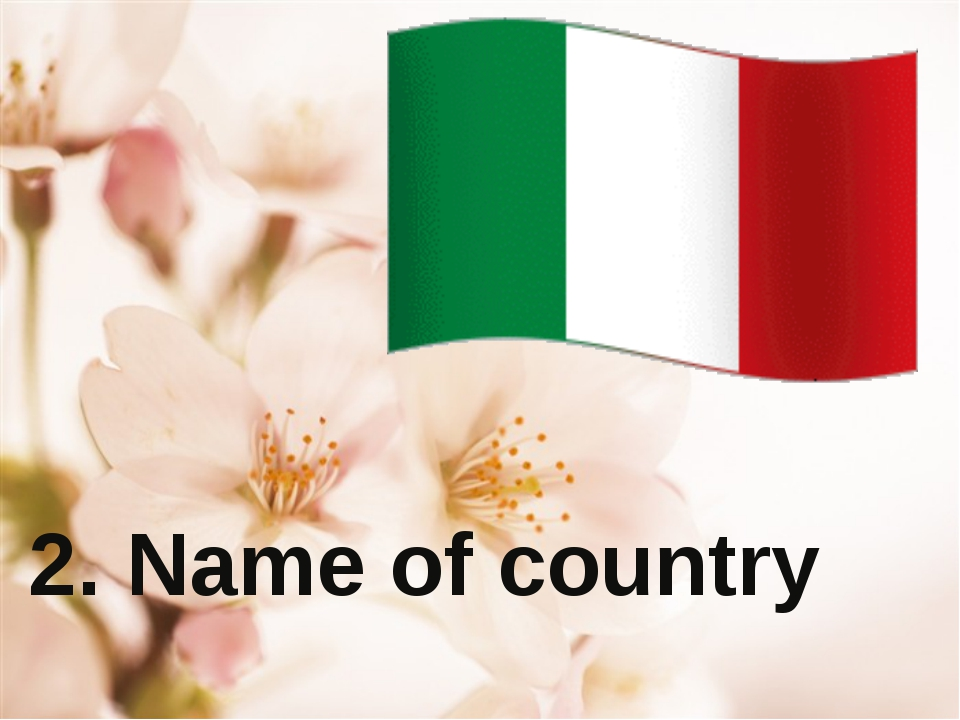 2. Name of country