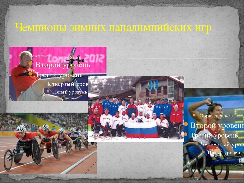 Чемпионы зимних папалимпийских игр