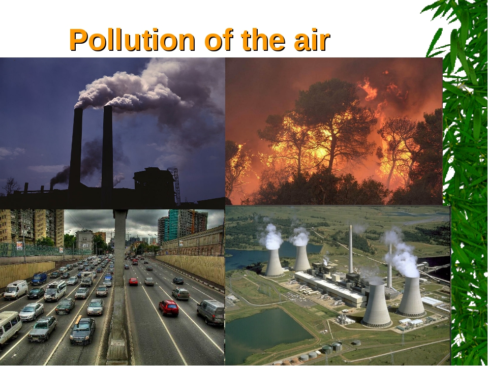 Pollution of the air